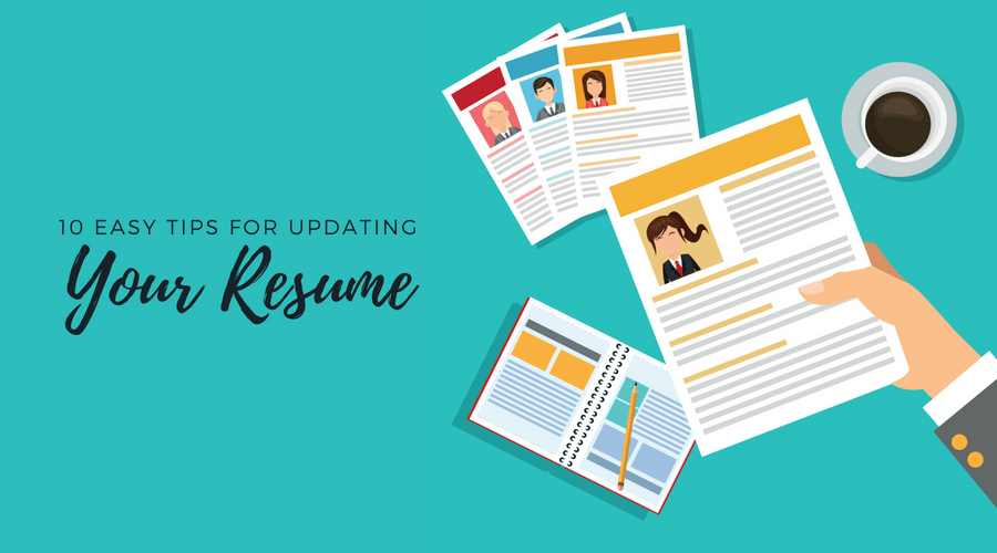 graphic of how to update resume