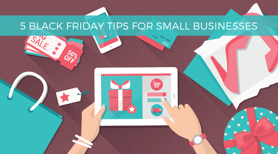 black friday tips for small business graphic